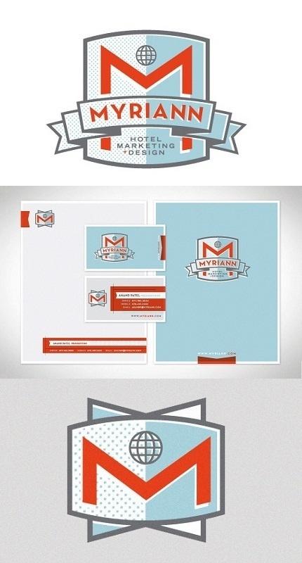 Myriann Hotel Marketing #stationary #identity #foundry #hotel #logo
