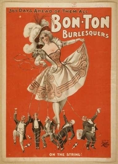 Posters for Burlesque Shows, 1890s | Retronaut #1890s #shows #posters #for #burlesque