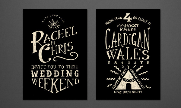 Wedding Chris Welsby #print #drawn #invites #hand #typography
