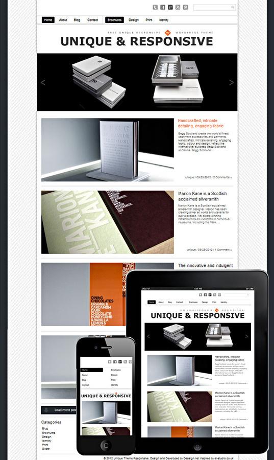Unique Theme Responsive #responsive #unique #theme #grid #wordpress