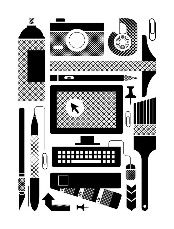 Design Tools of the Trade Screen Print Poster #design #poster