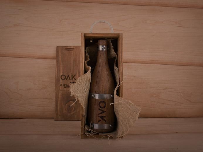 OAK wine. By Grantipo & La Despensa #oak #packaging #de #wine #grantipo #botella #madera