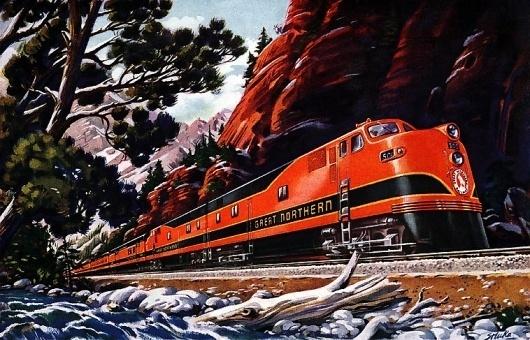 Plan59 :: Vintage Ads :: Mid-Century Modern :: Great Northern Empire Builder, 1946 #great #northern