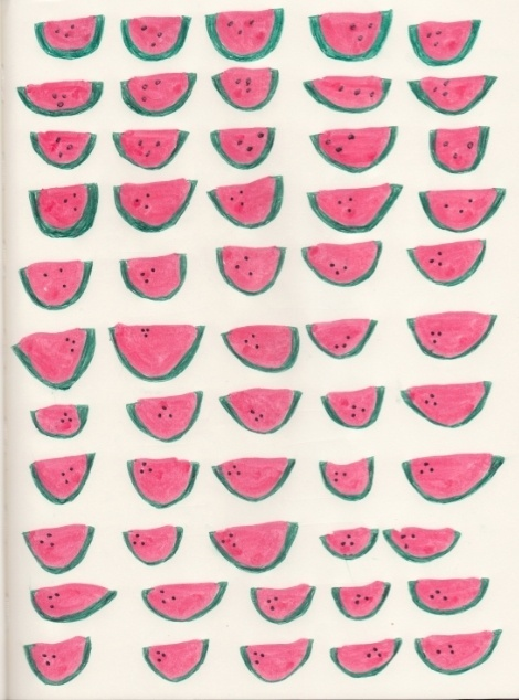 pattern, melon, fruit, pattern, illustration #illustration #fruit #pattern #melon