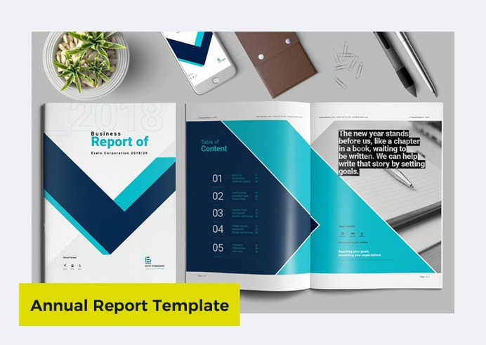 Annual Report Template in Word by By Elite_Standard