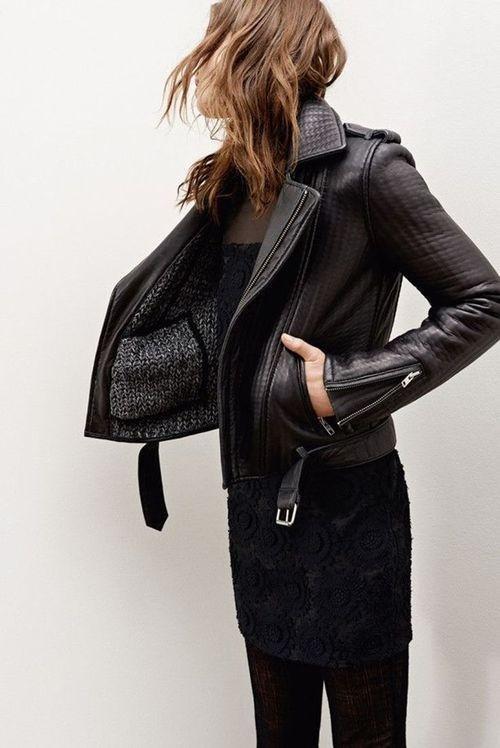 Likes | Tumblr #leather jacket #fashion