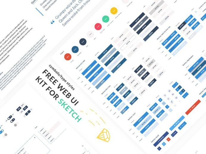 FREE WEB UI Kit - Get it from here https://www.thehotskills.com/sketch-app-ui-kits-free