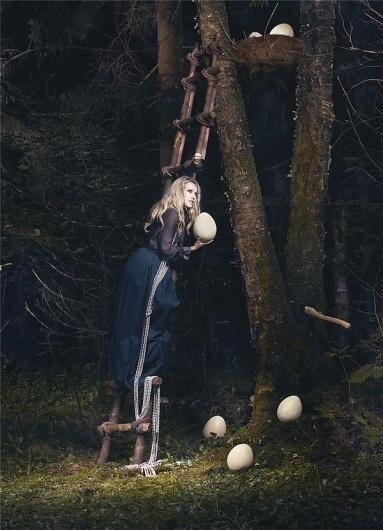 ULYANA SERGEENKO on the Behance Network #egg #ulyana #sergeenko #stairs #forest