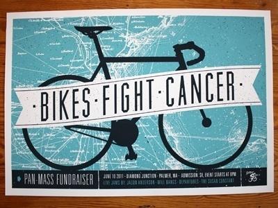 Dribbble - Pan-Mass Fundraiser Screen Print (15 x 22 #design #bike #typography