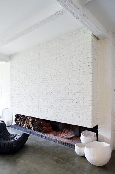 The Design Chaser: Interior Brick | Raw #interior design #decoration #decor #deco #brick wall
