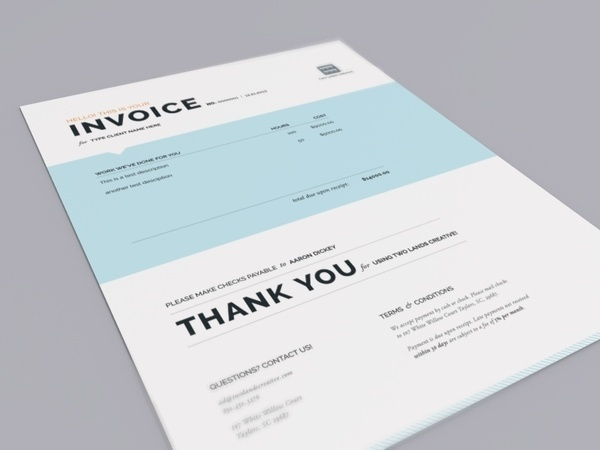 Two Lands Creative Invoice #invoice #layout