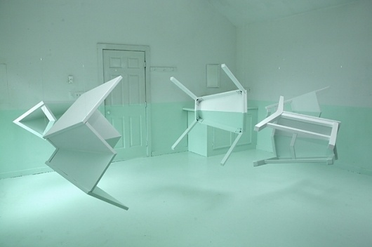 Kyung Woo Han - Green House + xoxo #house #installation #han #kyung #art #woo #room #green