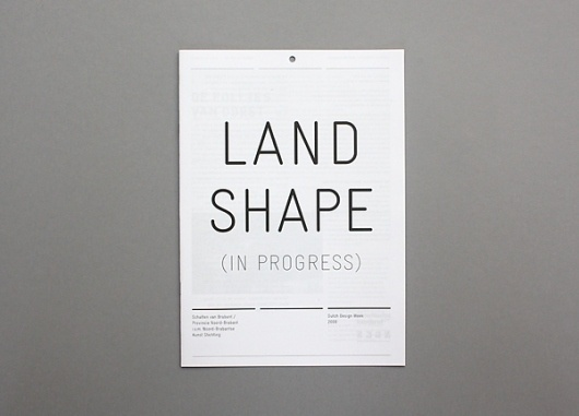 Landshape : Rob van Hoesel #white #graphic #black #grid #and