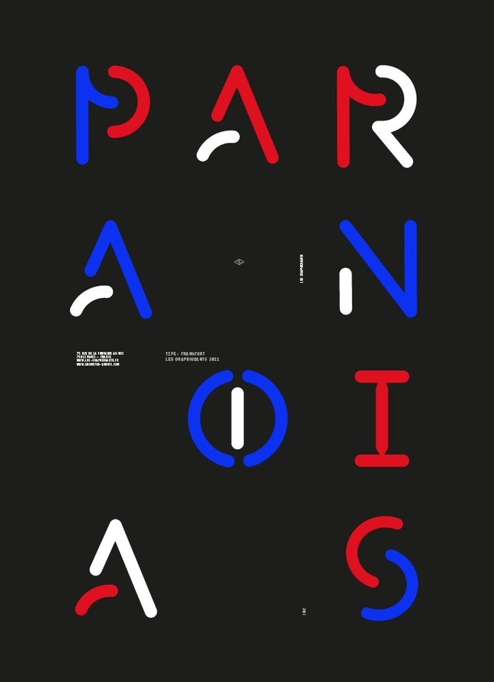 Graphic Posters by Les Graphicants | Trendland #poster #typography