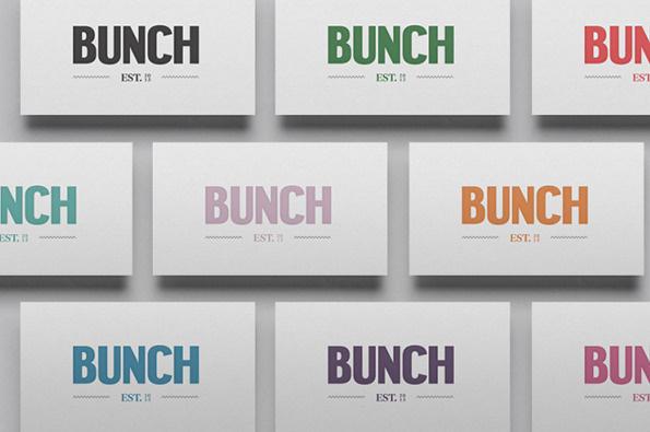 Bunch 4 #business #type #cards #branding
