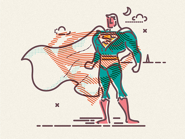 COLOURS AND LINES PART QUATRE on Behance #lines #jamesp0p #oconnell #heroes #james #illustration #superman