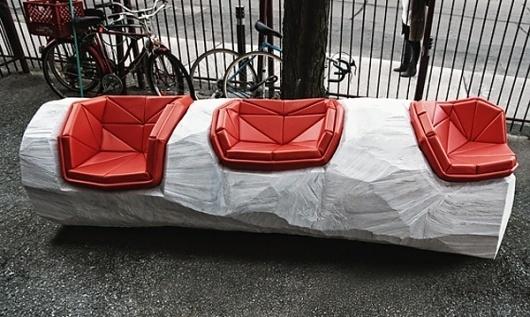 Log Chop Bench by David Long & Antoine Morris » Yanko Design #log #chop #bench