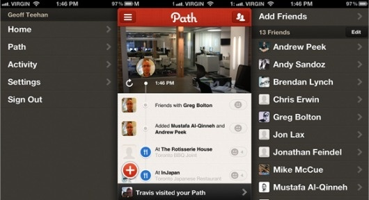 Going down the right Path   Teehan+Lax #path #iphone #app
