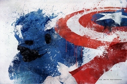 Our Favorite Superheroes Get 'Splattered' - DesignTAXI.com #america #comics #captain #art