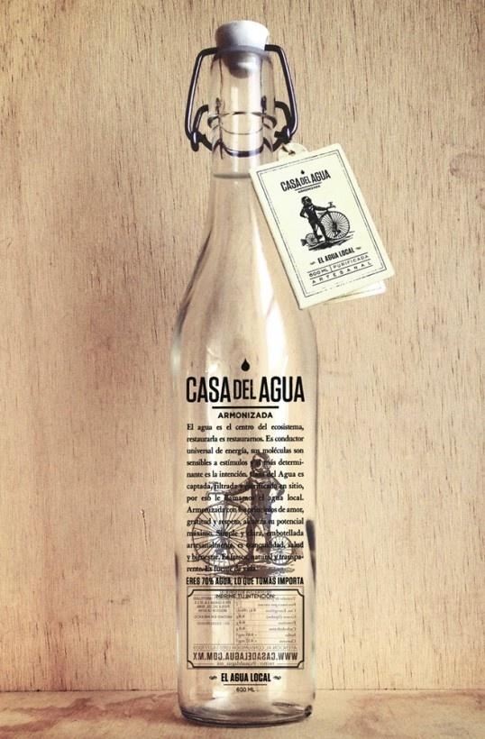 lovley package casa del agua #packaging #glass #water #bottle