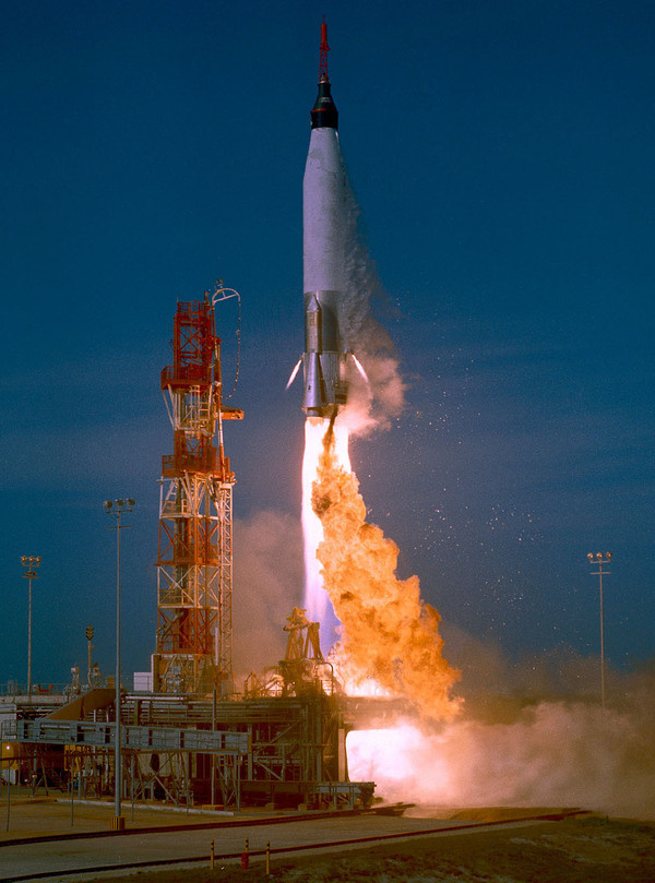 The Historic Flight of Mercury 6 In Focus The Atlantic #missile #nasa #mercury #launch #space #rocket