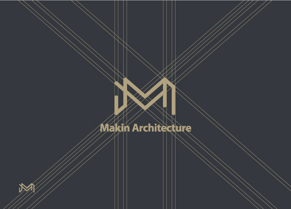 Makin Architecture Branding, logo and colorways. #guides #makin #branding #redesign #design #graphic #guidelines #brand #behance #identity #architecture #grey #gold #logo #blue #typography