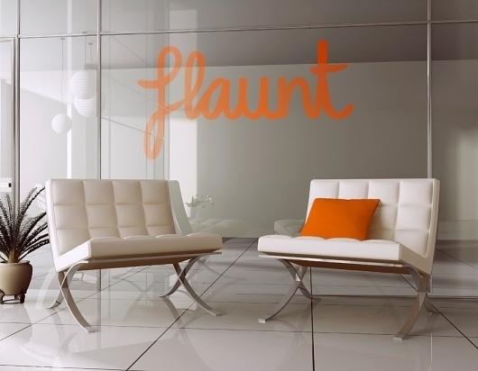 Flaunt : i like blue #print #design #identity #logo #typography