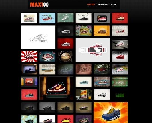 Dribbble - MAX100_project site.png by Matt Stevens #website #grid #mosaic