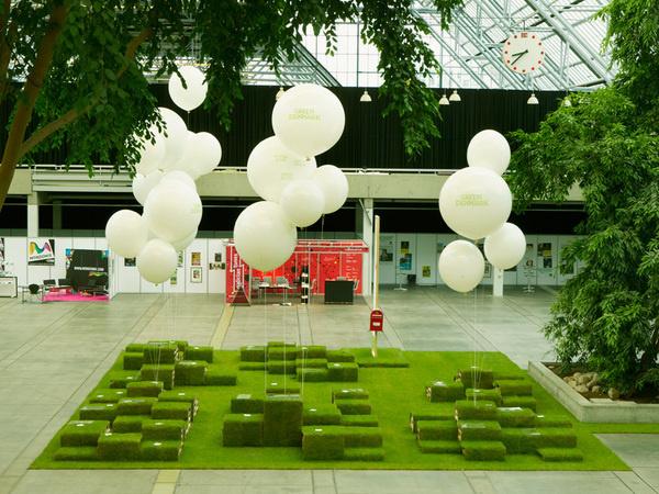 NR2364 / Danish Arts Council / Womex #balloons #grass #event #environmental #green