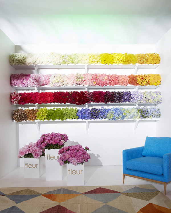 The Cool Hunter Welcome #stand #installation #exhibition #flower #decoration
