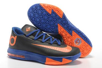 Nike KD VI Black/Royal Blue/Orange New Release Shoes-#87664-360