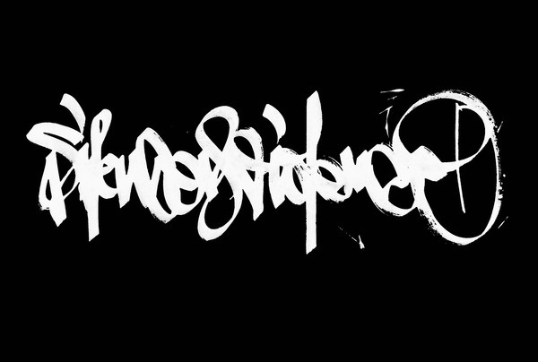 Calligraphi.ca silence is violence Extra Broad Marker on paper (invert in photoshop) Greg Papagrigoriou #type #face #typography