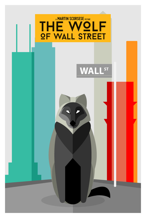 The Wolf of Wall Street #movie #posters #wolf #illustration