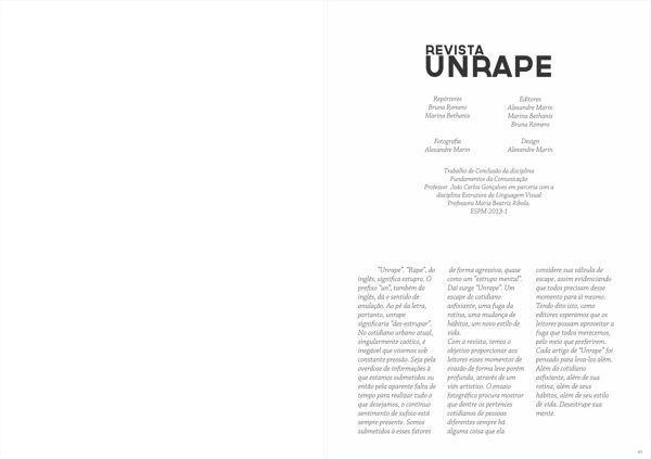 Unrape Magazine - editorial #layout #editorial #magazine