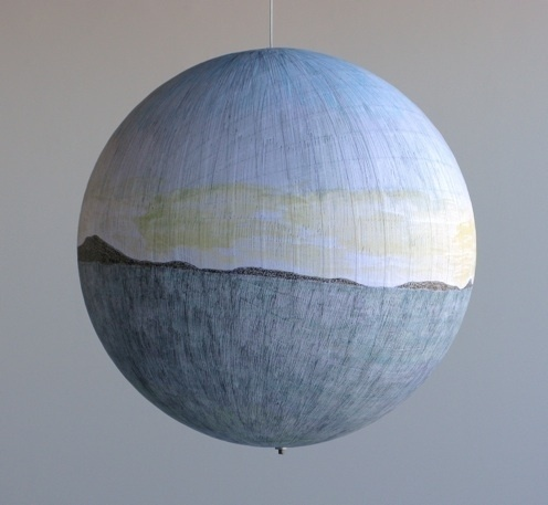 Russell Crotty - Planets #sculpture #globe #crotty #drawing #russell #planets #paper