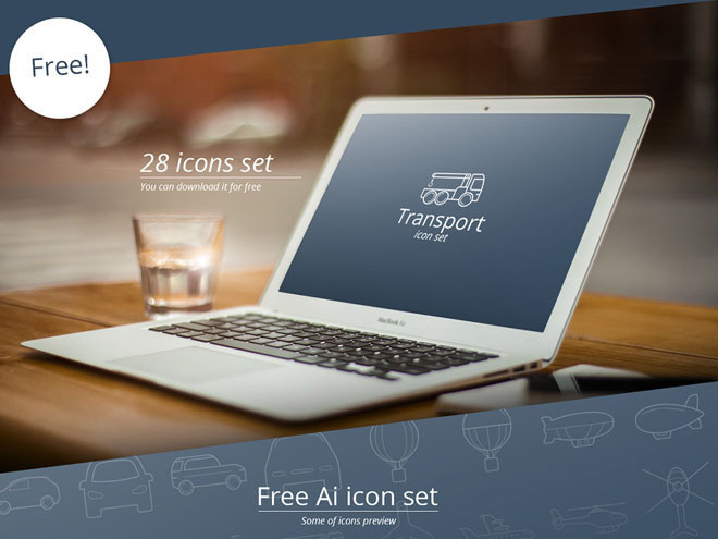 Free Vector Transport Icon Set