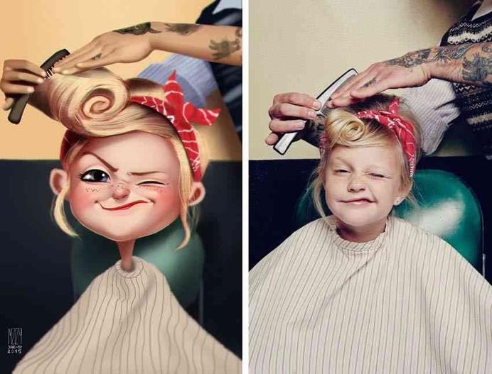 Creative Digital Art Paintings of Random People into Fun Illustrations