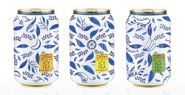 Free Flavour » Lipton Iced Tea packaging Concept #packaging #design #graphic #illustration #tea #ice #can