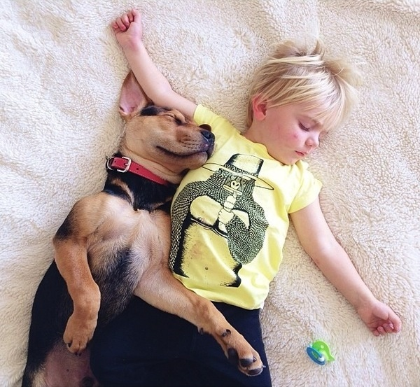 A Naptime Story with Dog and Baby 3 #photography #baby #dog