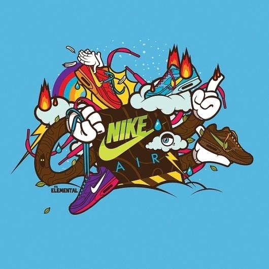 Google Reader (226) #branding #tshirt #nike #illustration #colorful