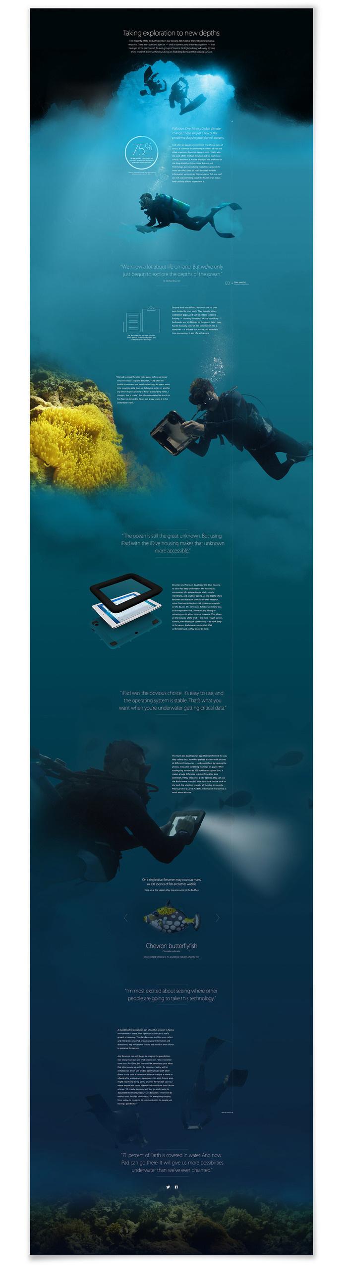 Mar Cubillos — Pixel Swell #site design #web design #diving