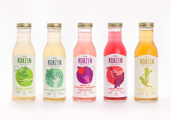 Quench Your Thirst With This Bright Kombucha — The Dieline   Packaging & Branding Design & Innovation News
