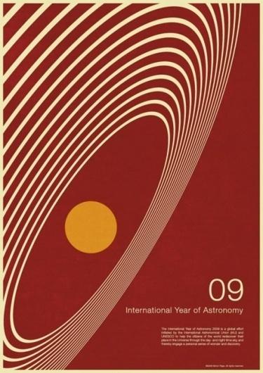 Year of Astronomy poster design | David Airey, graphic designer #modernism #minimalist