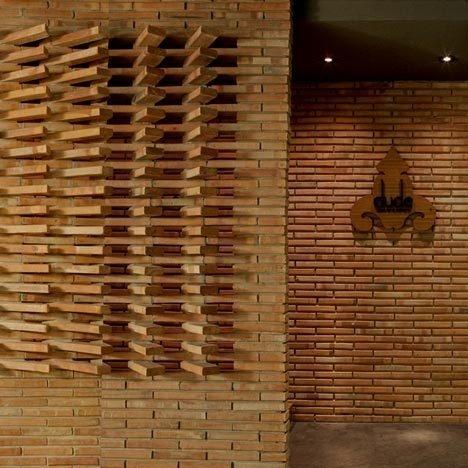 Dude Cigar Bar by Studiomake #brick #elevations #interiors #architecture #masonry