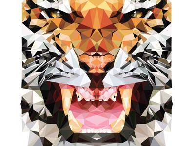 Triger #hope #hopelittle #illustrator #little #illustration #triangle #art #triger #tiger #animal