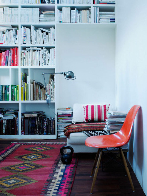 reading space (via desire to inspire Björn Lofterud) #interior #house #in #of #design #home #the #furniture #street #middle