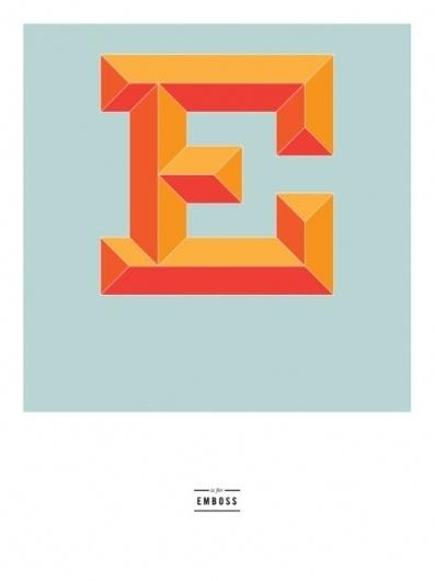 Justafrog • E is for Emboss (courtesy of Kyle Marmesh) #type