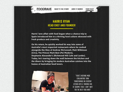 Your Chef Page #page #raw #bout #rough #food #web #typography