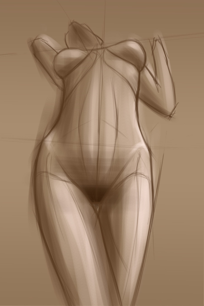 ariel b sketch #pose #woman #girl #nude #sketch #proportion #illustration #art #standing #drawing #life
