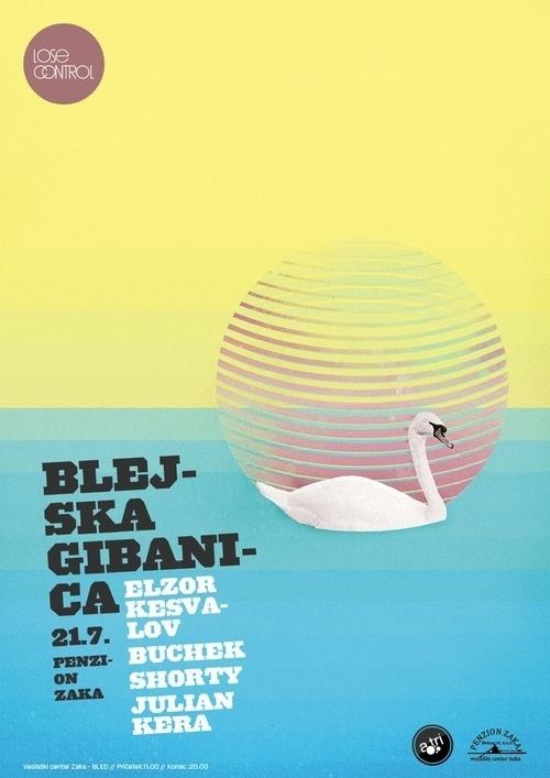http://ljubobratina.com/ #swan #design #poster #lake #party